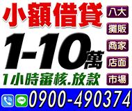 【小額借貸 一小時內審核放款】 | 1-10萬 八大店面商家攤販市場【速交貸】