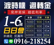 日日會1-6萬 渡時機周轉金 | 免押免保超低利率 非錢莊反高利【速交貸】